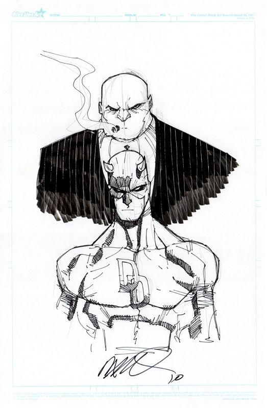 Daredevil & Kingpin by Humberto Ramos (2010)