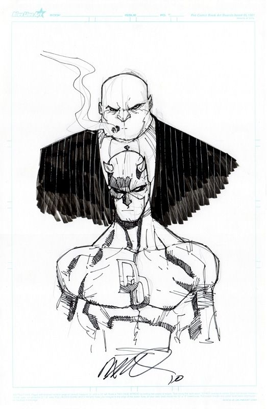 Daredevil and King Pin by Humberto Ramos