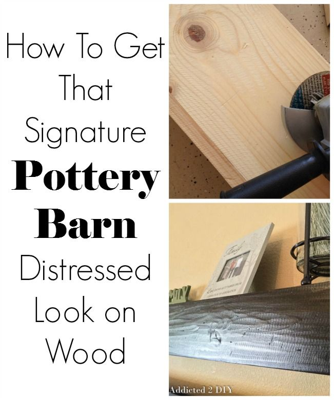 This idea for getting that Pottery Barn distressed look is genius!  Perfect for any wood projects that need a little distressing.