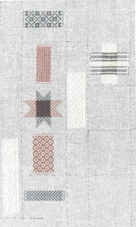 Darning sampler, pdf pattern Elma