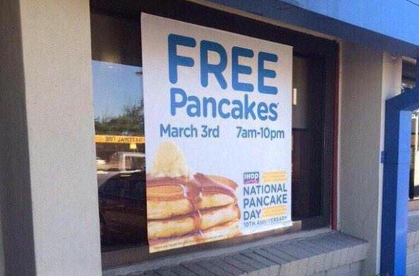 Free pancakes at ihop - #Free, #Ihop, #Pancakes