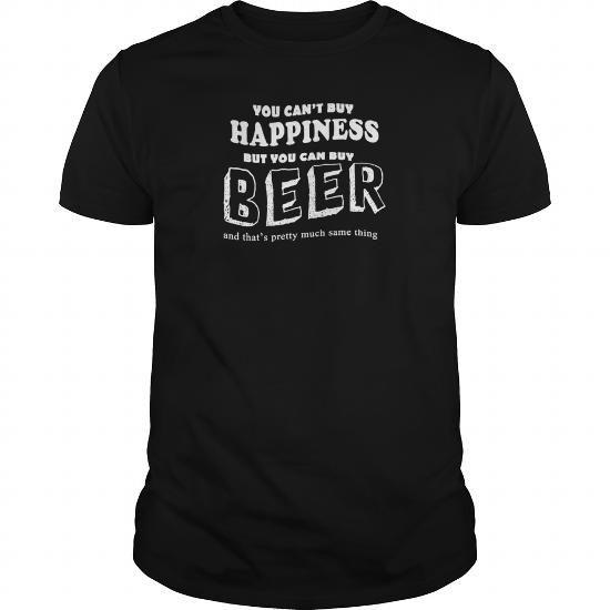 Cool Happiness is to buy Beer TShirts  Mens Premium TShirt T-Shirts