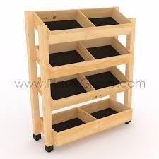 Resultado de imagen para estantes madera panaderia