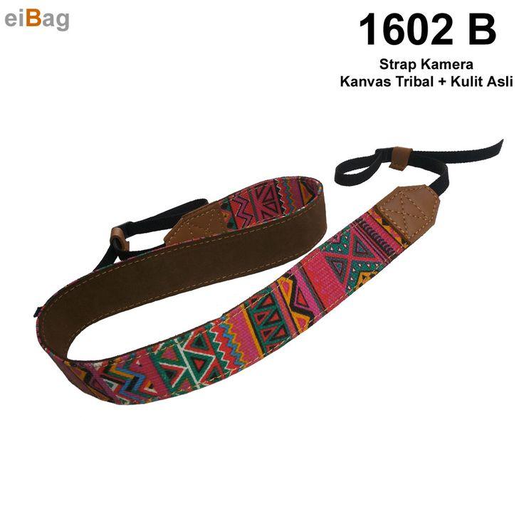 #strapkamera Strap kamera kulit variasi kanvas tribal produk EIBAG Bandung untuk tali kamera dslr harga murah berkualitas dengan bahan tribal motif unik dan menarik