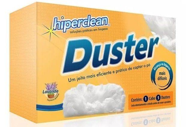 Espanador Eletrostático De Pó Duster Hiperclean Tira O Pó (1 haste + 5 espanadores) - Adrishop - Sua Loja de Variedades