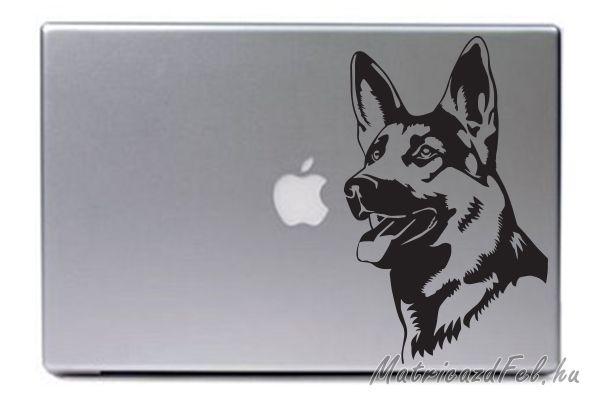 Gyönyörűen kidolgozott, részletgazdag németjuhász matrica laptopon. Rendelésre készült. Nem gyönyörű?