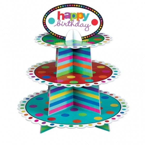 Présentoir cupcakes pour un anniversaire