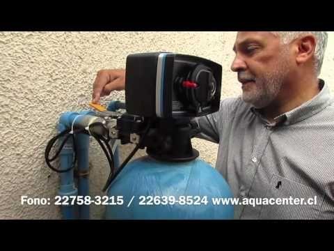 Como operar su ablandador de agua domiciliario (Aquacenter) - YouTube
