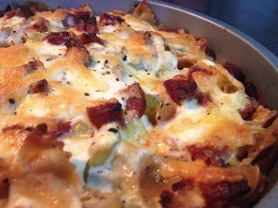 Cuisine Ma-Ligne!: Gratin de pâtes crémeux Chorizo/poireaux/Philadelphia 10pp