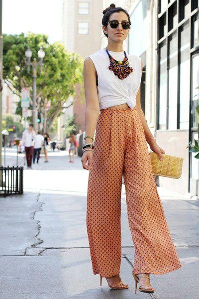 Шикарные широкие брюки или с чем носить широкие брюки (65+ фото)   Каблучок.ру