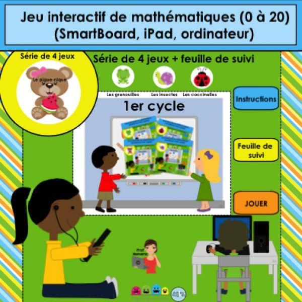 Jeu interactif mathématiques/Le pique-nique