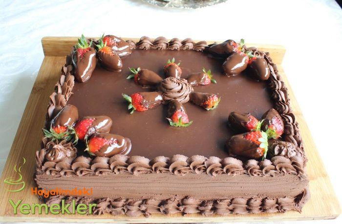 çikolata ganajlı yaş pastalar