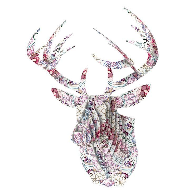 "DLKG Design ""Cool Stitch White"" Blush Eyan Elephant Bust Jr. from KESS InHouse"