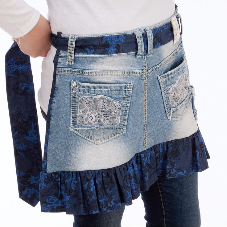 Upcycle your favorite jeans into a DIY apron!