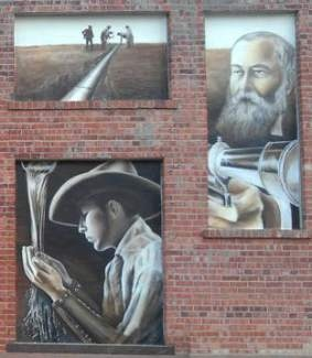 historic art in downtown Greeley