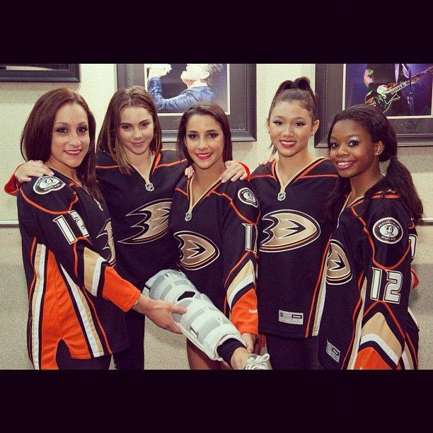 We hope the Fierce 5 were impressed... #NHLDucks