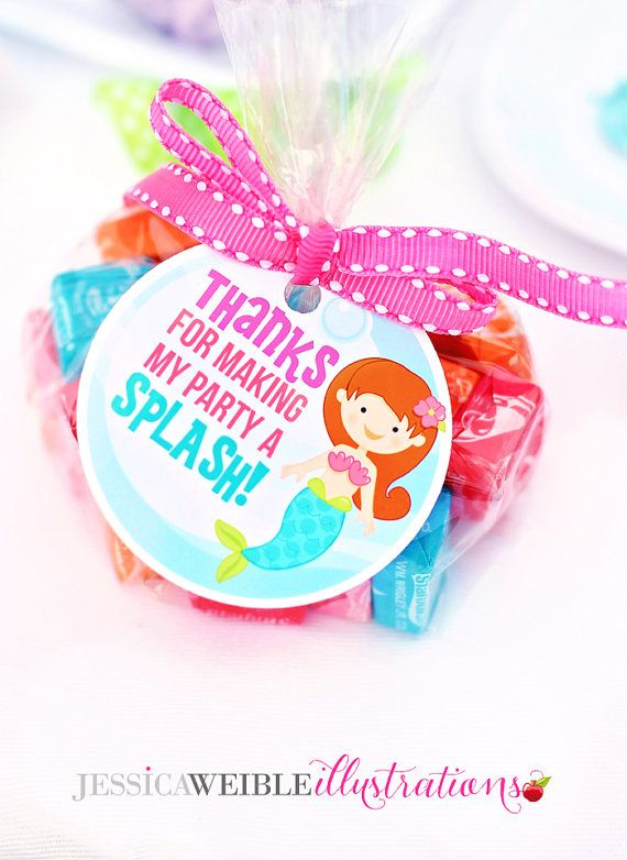 These Mystical Mermaid Printable 2.5 inch Circles will make your party so very awesome! These are great to attach to party favor bags, use