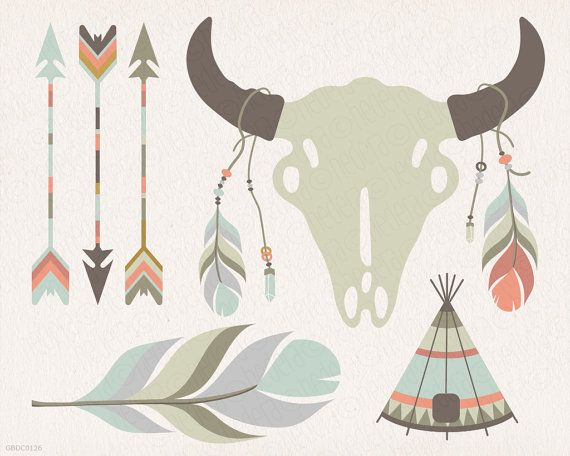 Dream catcher teepee feathers crossed arrows by GrafikBoutique
