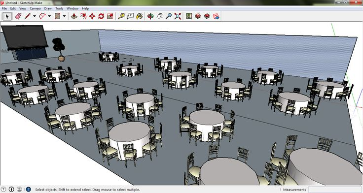 Banquet layout on sketchup events pinterest layout for Table design sketchup