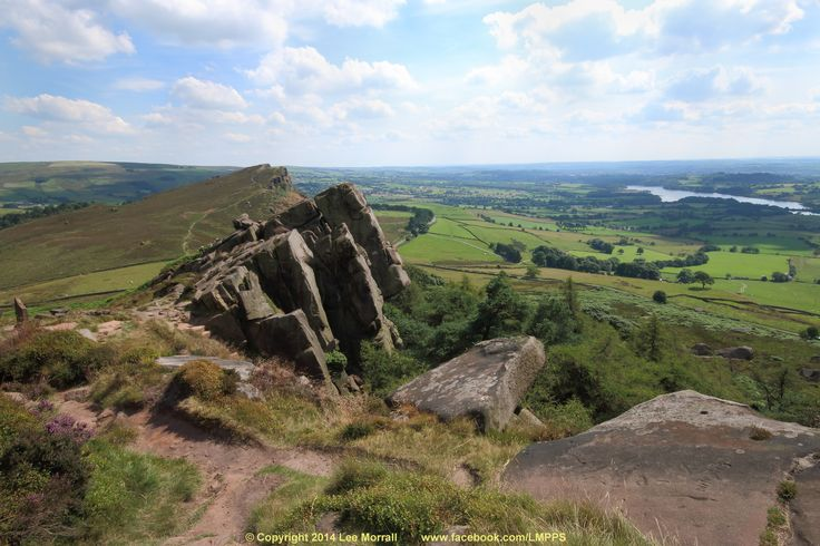 The Roaches and Hen Cloud, in The Peak District National Park, North Staffordshire, England, 2014.