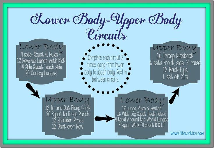 Lower Body, Upper Body Circuits