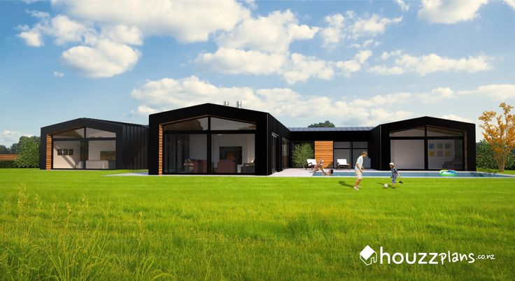 Zara - Modern Contemporary House Plan .... Browse all house plans here: www.houzzplans.co.nz