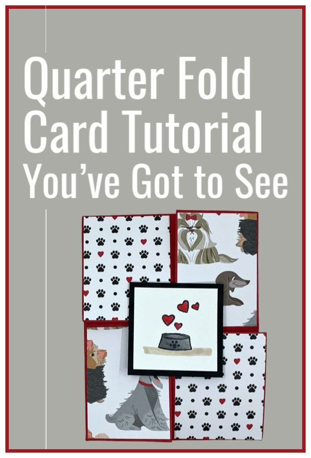A Quarter Fold Card Tutorial You Can Make In Easy Steps Fun Fold Card Card Tutorial Fun Fold Cards Card Making Tutorials