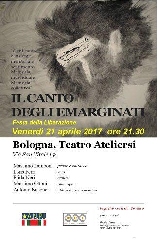 Il Canto degli emarginati il 21 aprile a Bologna