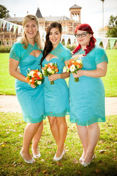 Winners and Losers bridesmaid's dresses by Jill Johanson and Jane Summers-Eve