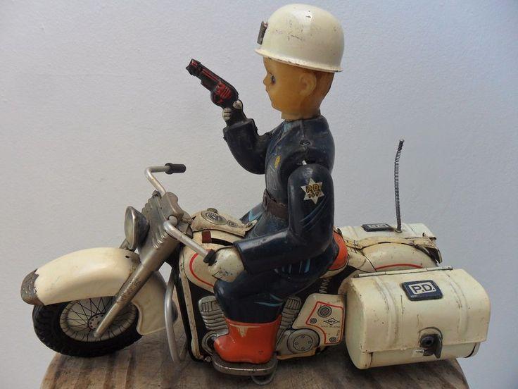 Rare Motorcycle Harley Davidson P.D. Police Departament Daiya Made Japan 1960's