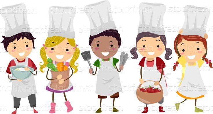 Crianças · criança · cozinha · chef · legumes · feminino - ilustração de vetor © lenm (#3208371) | Stockfresh