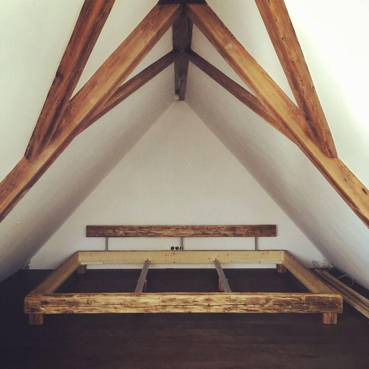 Extrabreit +++ Altholz Bett +++. Schlafzimmer