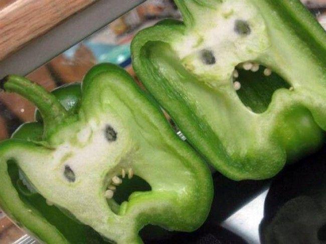 Terrified Vegetables | Funny Faces | Pinterest | Vegetables