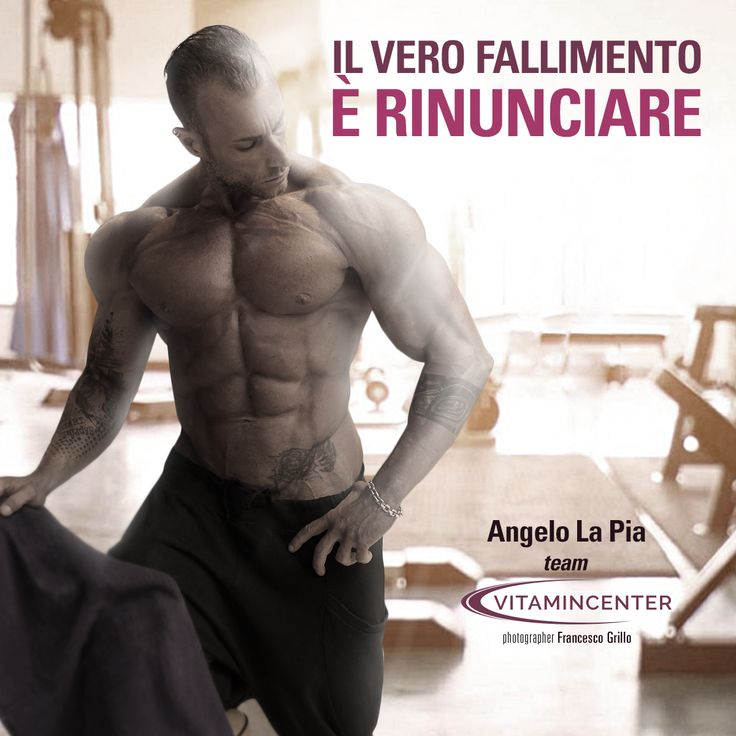 Il vero fallimento è RINUNCIARE! #MotivationMonday  Buona settimana di allenamento a tutti!  => www.vitamincenter.it #motivation #monday #buon #lunedì #palestra #allenamento #muscoli #sport #frasi #motivazionali
