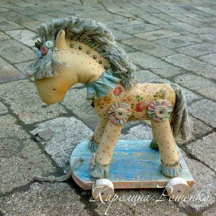 Ароматизированные куклы ручной работы. Ярмарка Мастеров - ручная работа. Купить Нарядная лошадка. Handmade. Лошадка, текстиль, металлическая фурнитура
