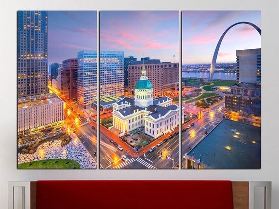 Saint Louis Wall Art Saint Louis City Saint Louis Decor Wall Decor