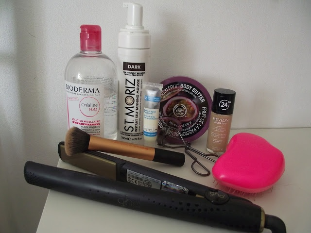 My top 10, all time favourite, products on the blog today featuring - Garnier Summer Body, Body Shop Body Butter, Real Techniques Buffing Brush, Tangle Teezer Original, Revlon ColorStay Foundation, GHD Limited Edition Styler, St Moriz Self Tan Mousse, No.7 Eyelash Curlers, Bioderma Sensiblo H20 and Murad Blemish Spot Treatment :) Reviews and more @ elyouelyou.com