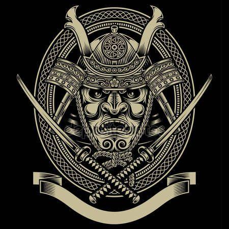 Самурай воин, меч Катана — стоковый вектор