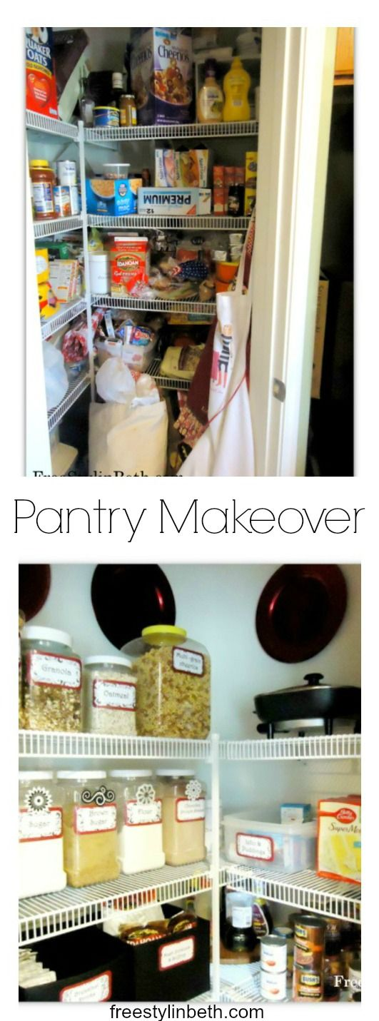 Pantry Makeover freestylinbethcom 260 best Home Organization