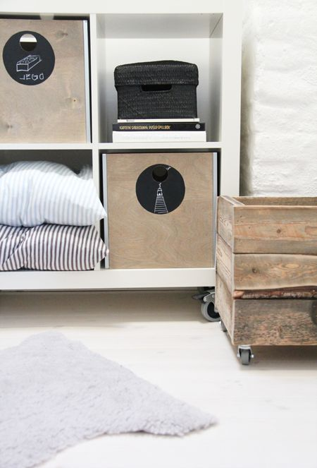 DIY boxes + casters on the old crate