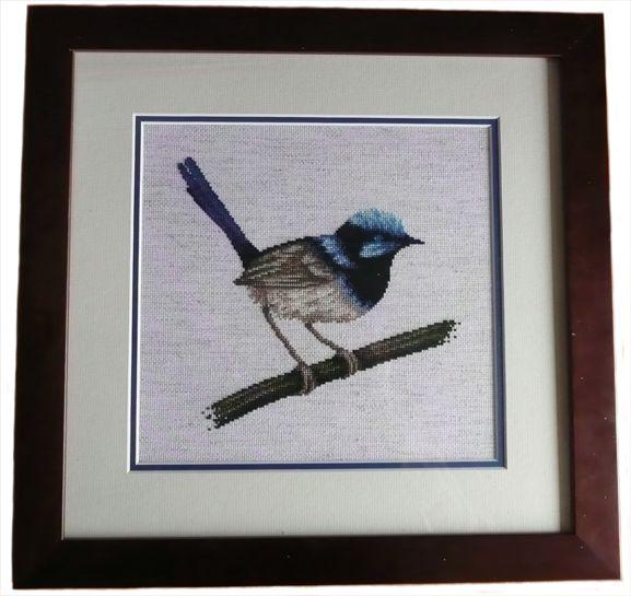 Blue Wren cross stitch by SmiteTheeWithApples.deviantart.com on @deviantART