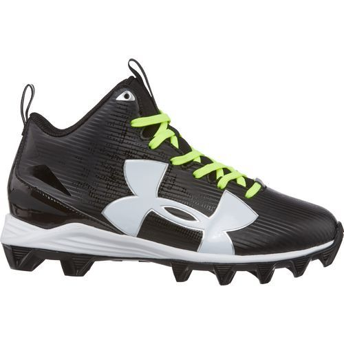 Under Armour Boys' Crusher RM Jr. Football Cleats (Black/White, Size 1.5) - Youth Football Shoes at Academy Sports