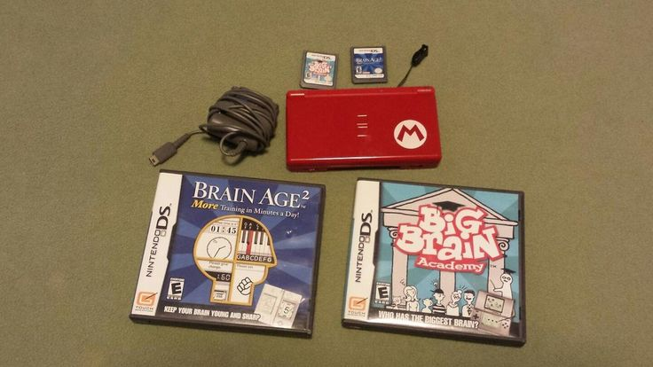 Nintendo DS Lite Limited Edition Red Mario System/Big Brain Academy/Brain Age 2 | Video Games & Consoles, Video Game Consoles | eBay!