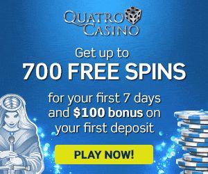 Quatro Casino First Deposit Bonus