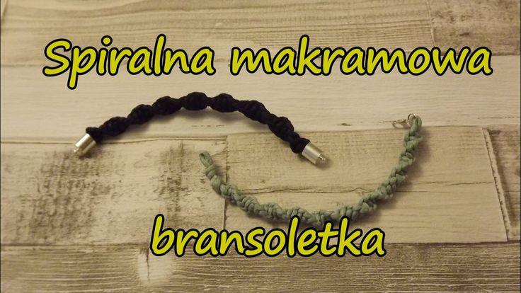 Spiralna bransoletka - Makrama