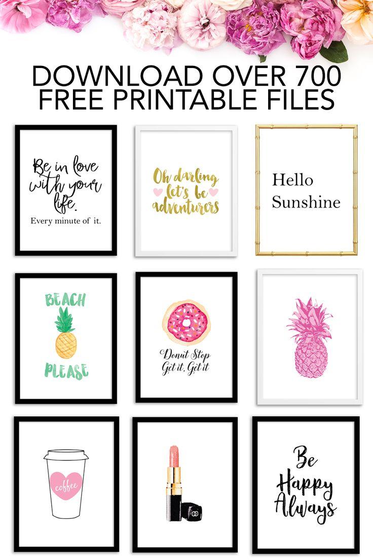 Free Printables Free printable art, Wall art quotes