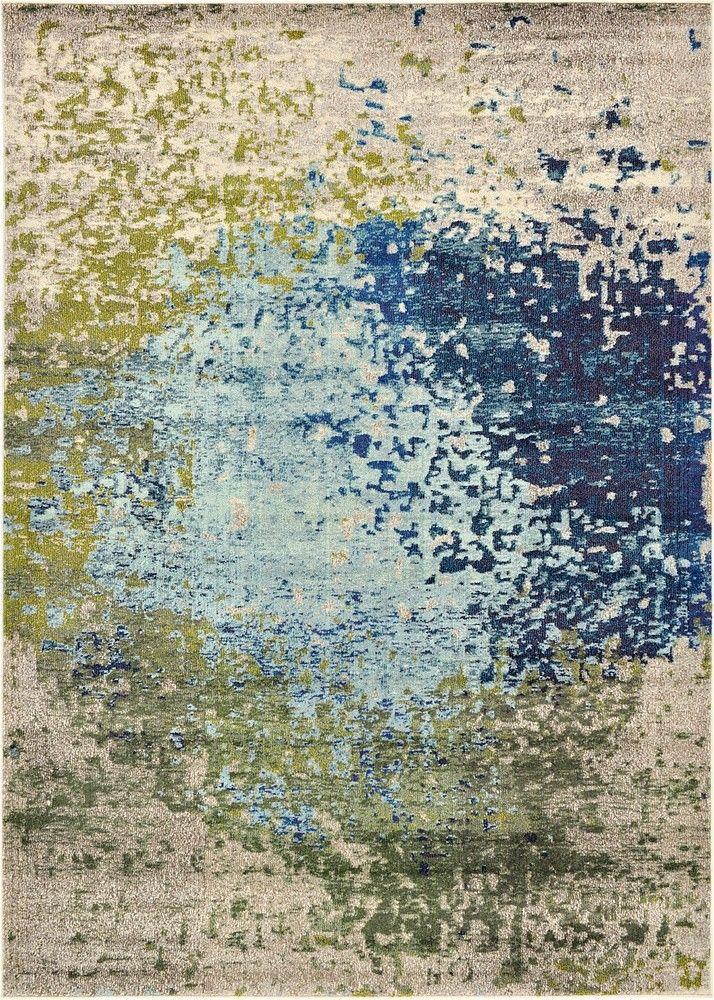 unique loom barcelona blue area rug u0026 reviews wayfair - Colorful Area Rugs