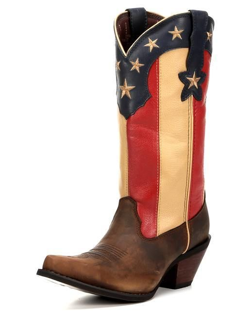 Durango Women's Crush Stars & Stripes Boot - Brown/Flag  http://www.countryoutfitter.com/products/122085-womens-crush-stars-and-stripes-boot-brown-flag