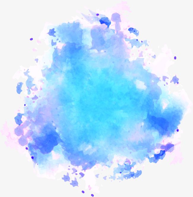 Blue Watercolor Graffiti Vector Material Blooming Watercolor