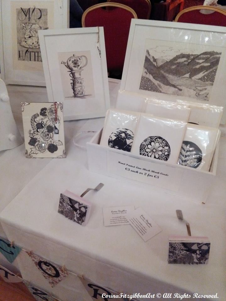My Display at the Vintage Fayre. Find more of my work on... Instagram and Facebook to see more of my work! @CorinaFitzgibbonArt https://www.facebook.com/corinafitzgibbonart  CorinaFitzgibbonArt© All Rights Reserved.